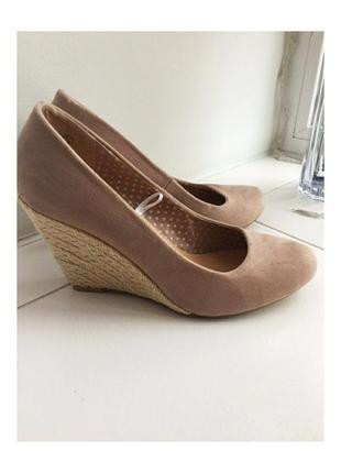 🖤 пудровые туфли на платформе