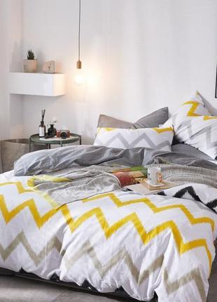 Дизайнерское сатиновое постельное белье премиум серия, евро размер 71