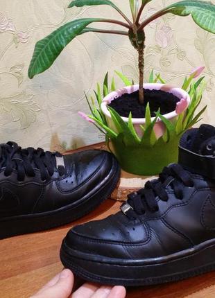 Кожані кросовки-кеди р.36-37 nike