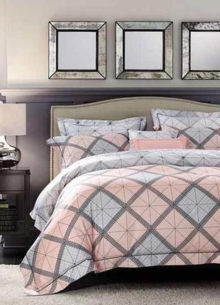 Дизайнерское сатиновое постельное белье премиум серия, евро размер 138