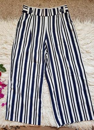 Шикарные кюлоты zara! размер - м! штаны лосины джинсы!