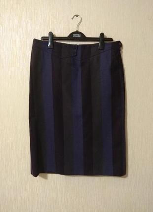 Крутая теплая фиолетовая 100% шерсть юбка bogner размер l