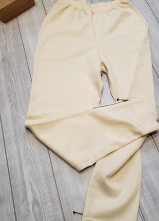 Тёплые спортивные брюки для дома натуральная шерсть.