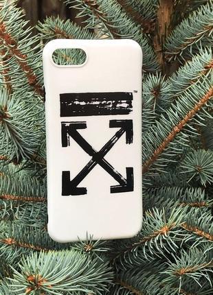 Чехол на iphone 5/5s/se/7/8/x/xs (yang style) off-white