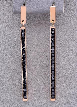 Серьги 'xuping' фианит (позолота 18к) 0874710