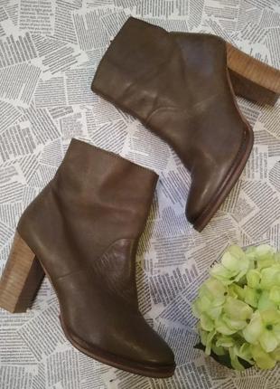Ботинки натуральная кожа устойчивый каблук eram shoes