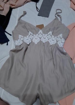 Комбенизон ромпер с открытой спиной sabo skirt