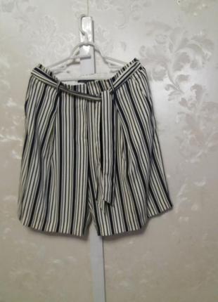 Удлиненные шорты в полоску next с поясом