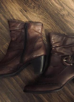 Ботинки демисезонные из натуральной кожи размер 41-42