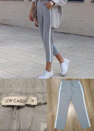 Серые брюки штаны с лампасами lc waikiki