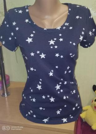 Звёздная тёмно-синяя  футболочка s-m- vivance-германия