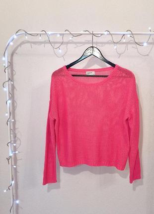 Стильный акриловый розовый джемпер свитерок reserved