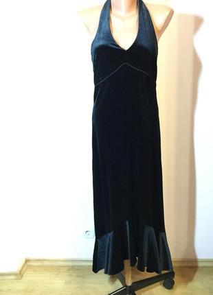 Вечернее бархатное платье/m/ brend h& m