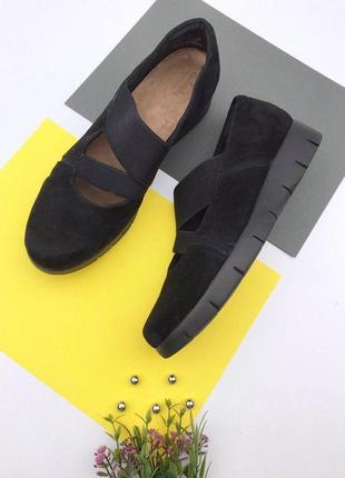 Замшевые очень легкие и комфортные туфли clarks
