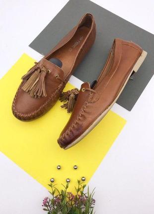 Кожаные туфли мокасины  next
