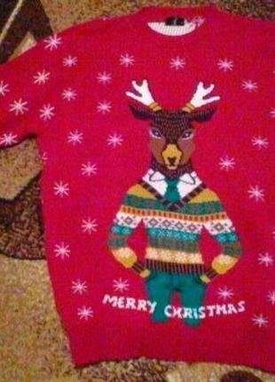 Бренд!новогодний свитер