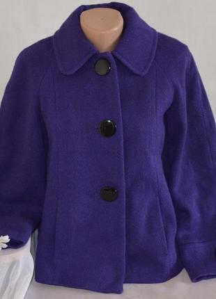 Брендовое демисезонное пальто полупальто с карманами f&f сербия шерсть