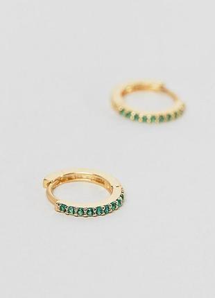Сережки кільця, серьги кольца orelia london asos