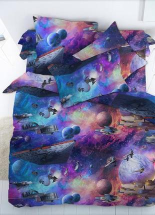 Космос -натуральное постельное белье из бязи,100% хлопок