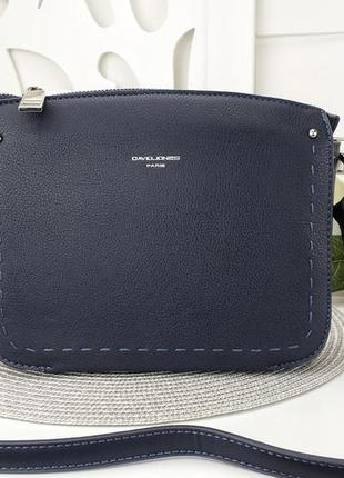 Клатч david jones еко кожа есть цвета через плечо длинный ремешок сумка крос боди