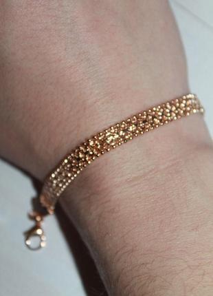 Красивый позолоченый браслет мед золото