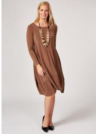 Marla wynne платье бежевое большое батальное батал стрейчевое балахон1 фото