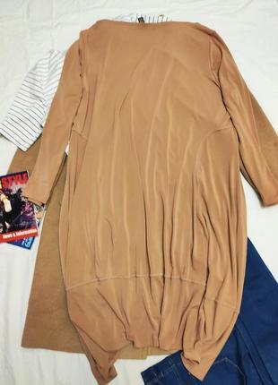 Marla wynne платье бежевое большое батальное батал стрейчевое балахон4 фото