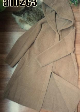 Женское новое пальто кардиган альпака свободного кроя