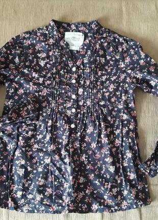 Хлопковая цветочная рубашка
