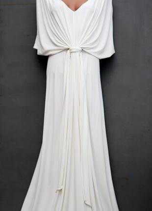 Белое, вечернее платье в пол victorias secret