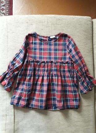 Блуза рубашка в клетку134-140