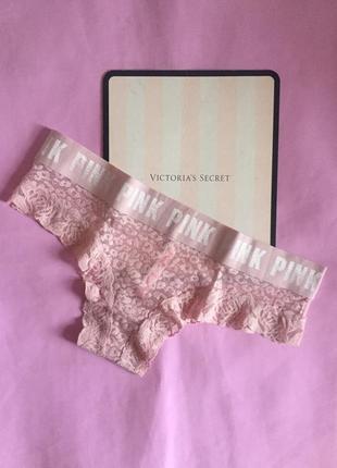 Оригинальные кружевные трусики pink