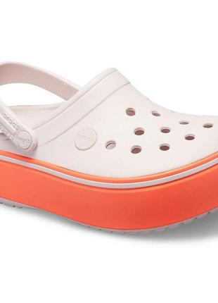 Crocs girls' crocband platform clog c12 c13(18.5/19см.) крокс