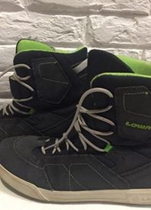 Ботинки  lowa р.40.натур.замша оригинал(легкое б\у6 фото