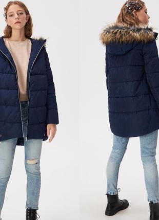 Пальто дутое с капюшоном