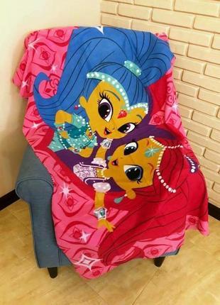 Детский флисовый плед шиммер и шайн 100х150 для девочки