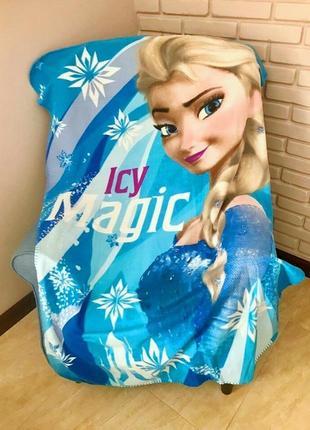 Детский флисовый плед frozen эльза холодное сердце 100х150 для девочки