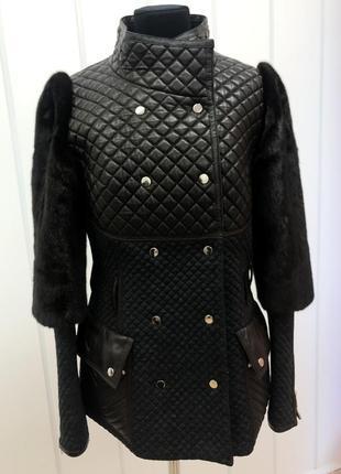 Продам зимнюю куртку с норковыми рукавами