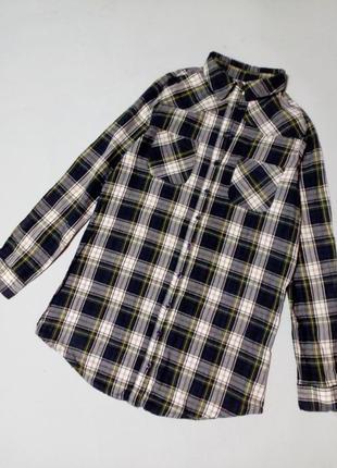 Распродажа хлопковая рубашка в клетку