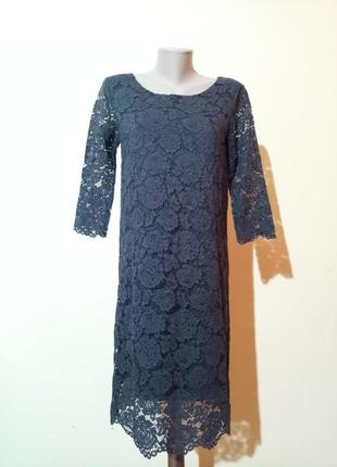 Итальянское бутиковое вечернее гипюровое платье