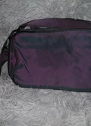 Крутая кроссбоди сумка хамелеон с термо-тканью внутри