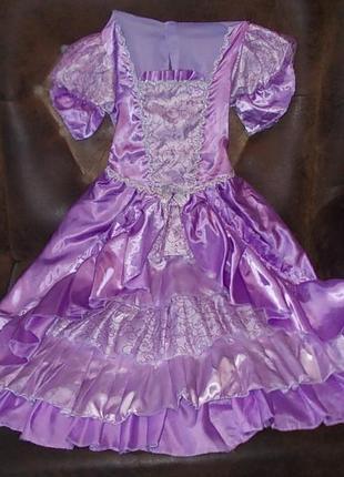 Маскарадное платье принцессы на 8-10 лет цена снижена
