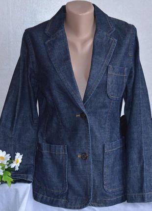 Брендовый джинсовый пиджак жакет с карманами gap коттон