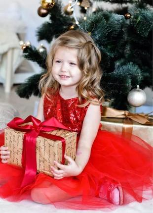 Платье на 2-3 года новое пышное бальное фатиновое нарядное праздничное