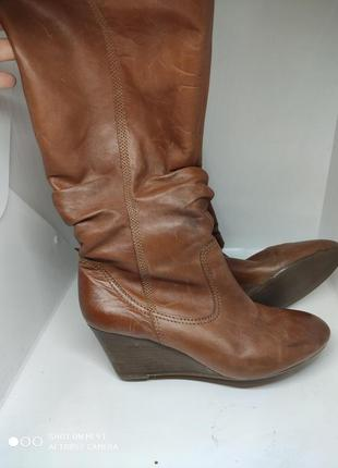 Кожаные деми сапоги 42-43 размер