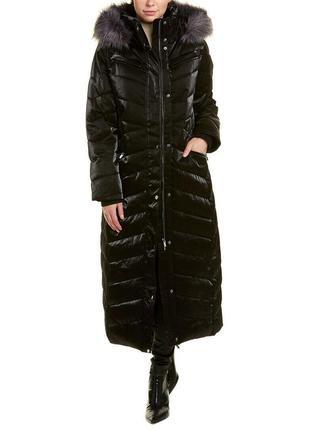 Дизайнерское стеганое пальто m-l еврозима
