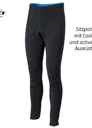 M-l велоштаны softshell унисекс с памперсом сrane германия, вело лосины софтшелл