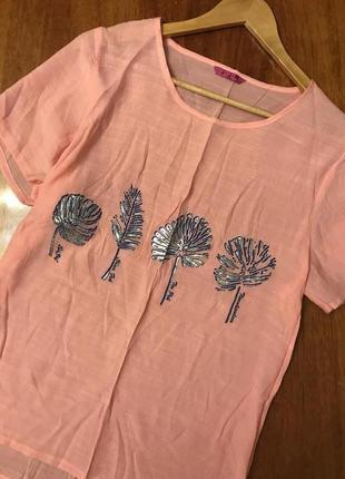 Суперская легкая футболка блуза свободного кроя оверсайз