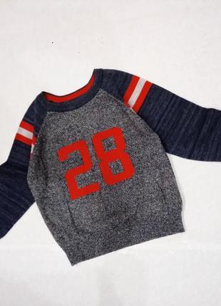 18-24мес. 92см . свитер,джемпер,кофта ,принт,rebel
