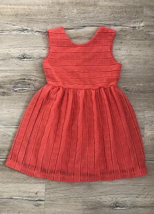 Коралловое платье zara.